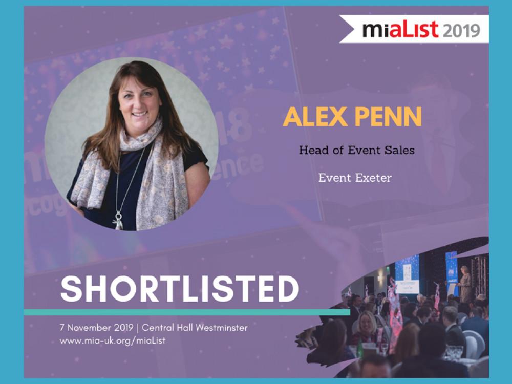 Alex Makes MiaList 2019 Shortlist
